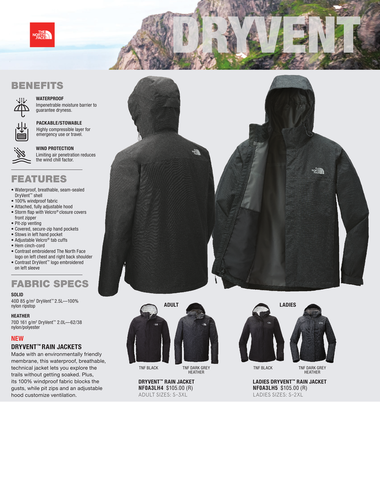 0ab44046b The North Face DryVent Rain Jacket