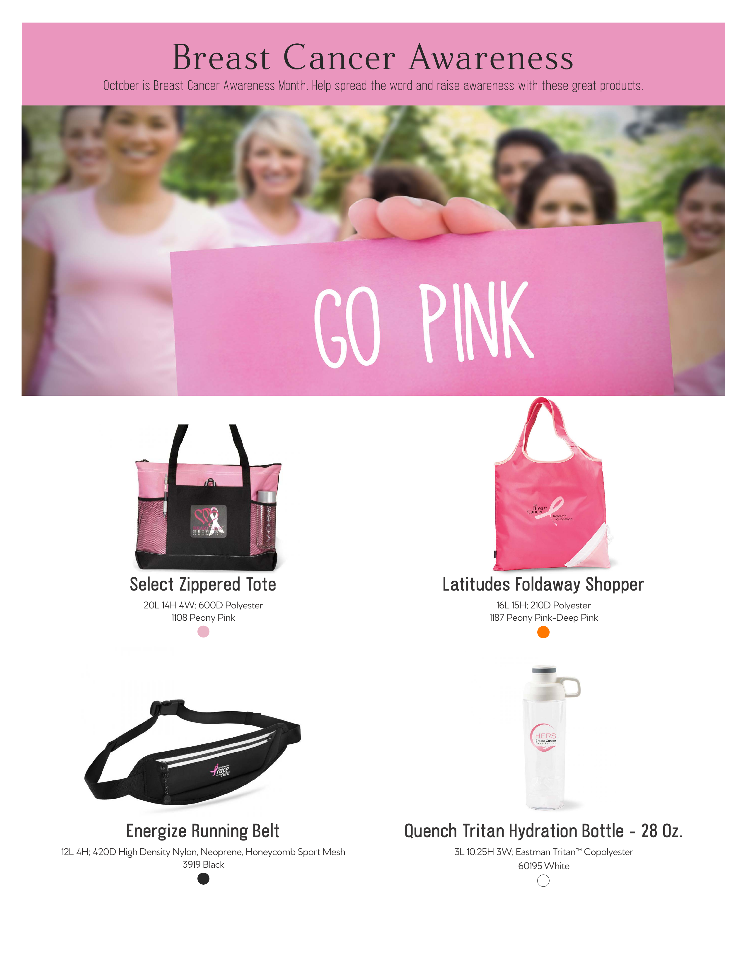 Gemline Breast Cancer ZOOMcatalog ZOOMcustom